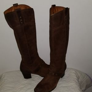 Womens Born Brown Leather Boots, size 10